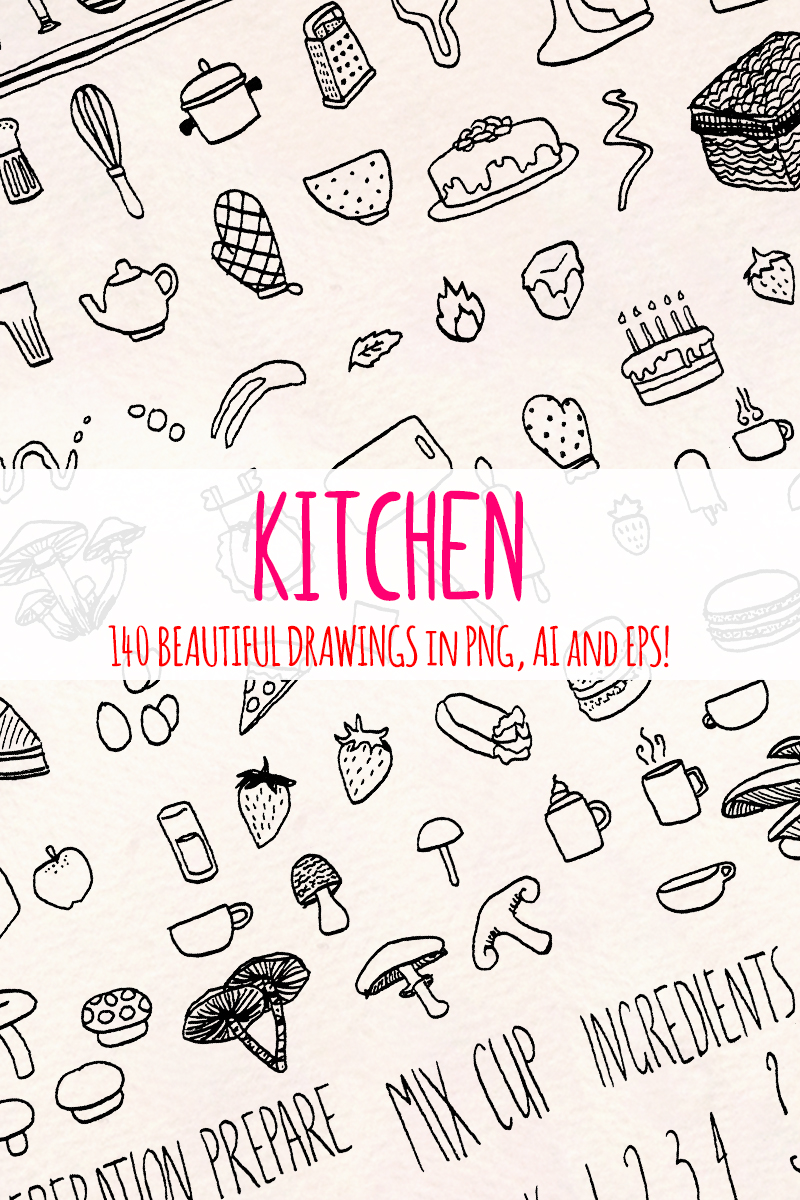 148 Food, Kitchen and Cooking Illustration