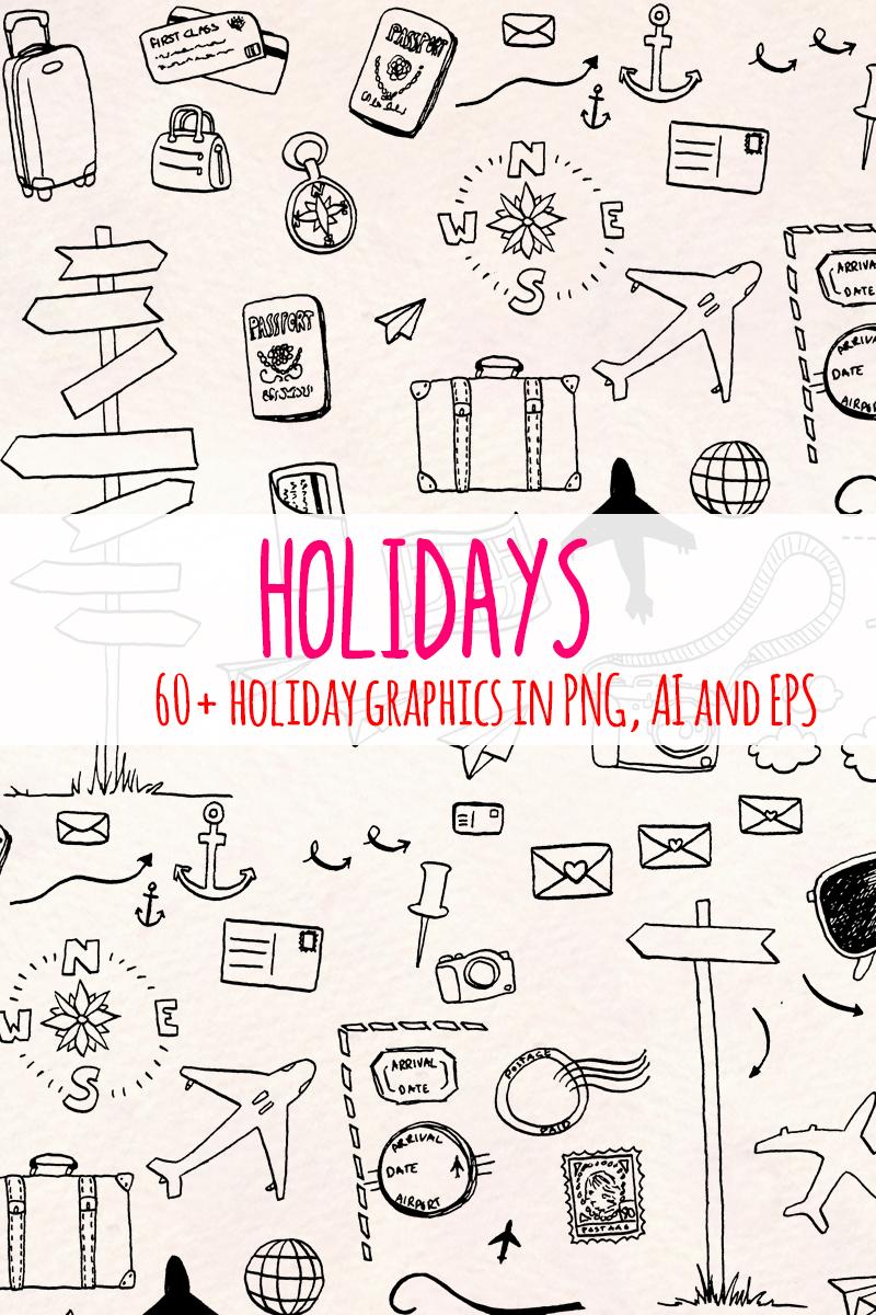 64 Holiday and Travel Themed Ilustração №79686