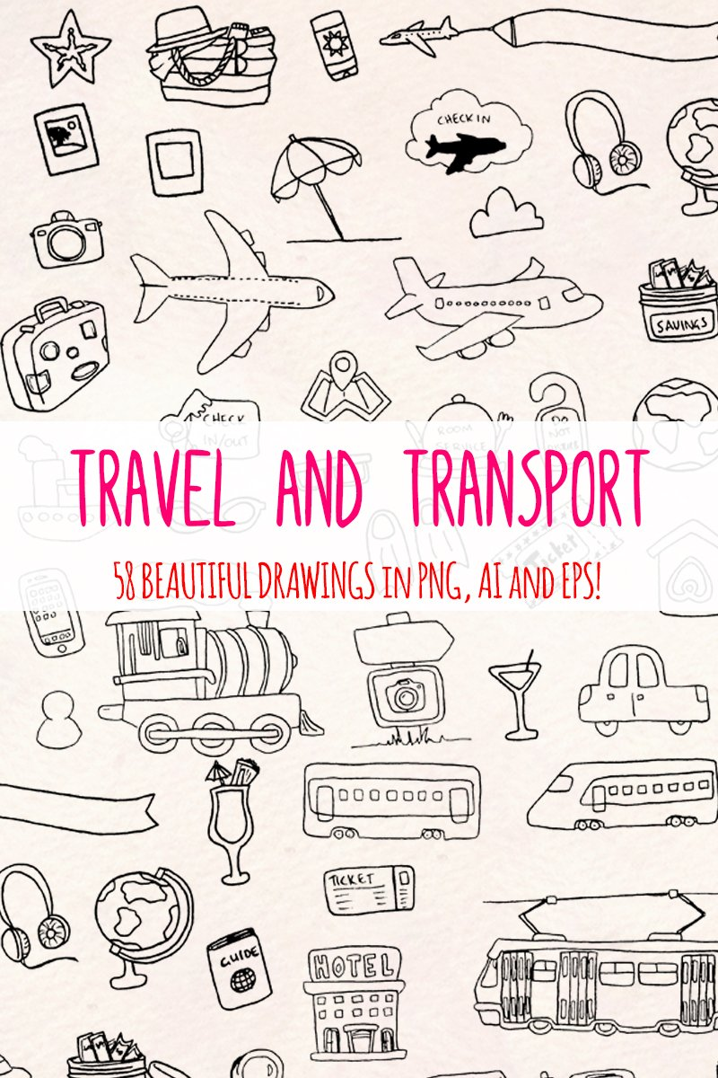 58 Holiday, Travel and Transport Illustration #79693