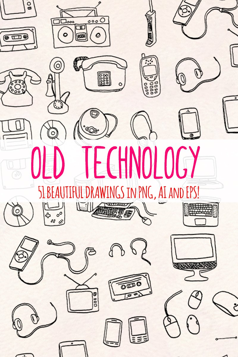 "Illustration namens ""51 Retro Computer and Technology"" #79685"