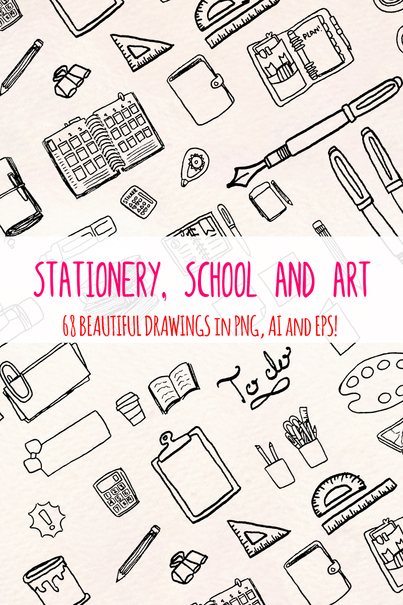 "Ilustrace ""68 Stationery, School and Art Supply"" #79692"