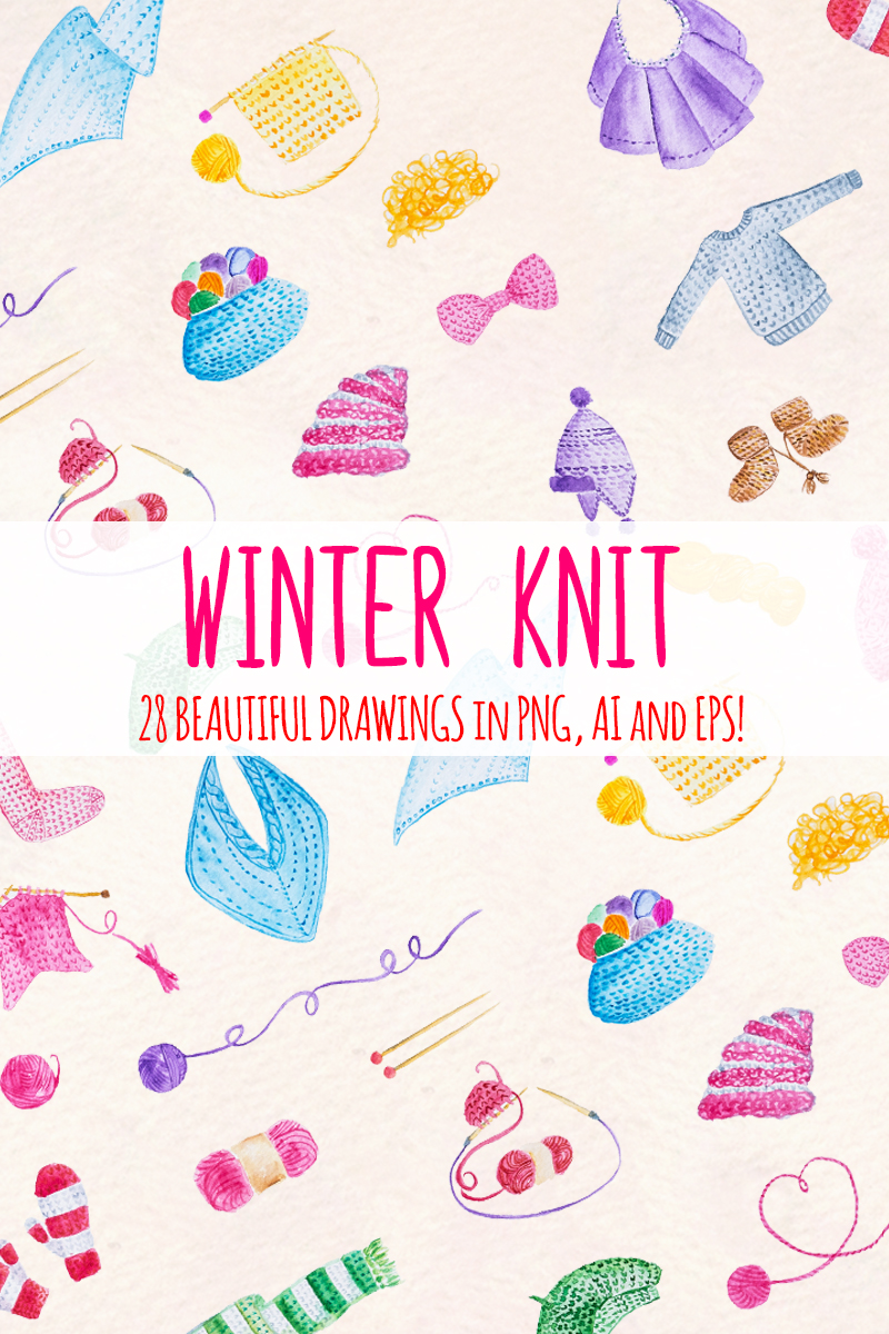 """Ilustración """"28 Winter Knitted"""" #79672"""