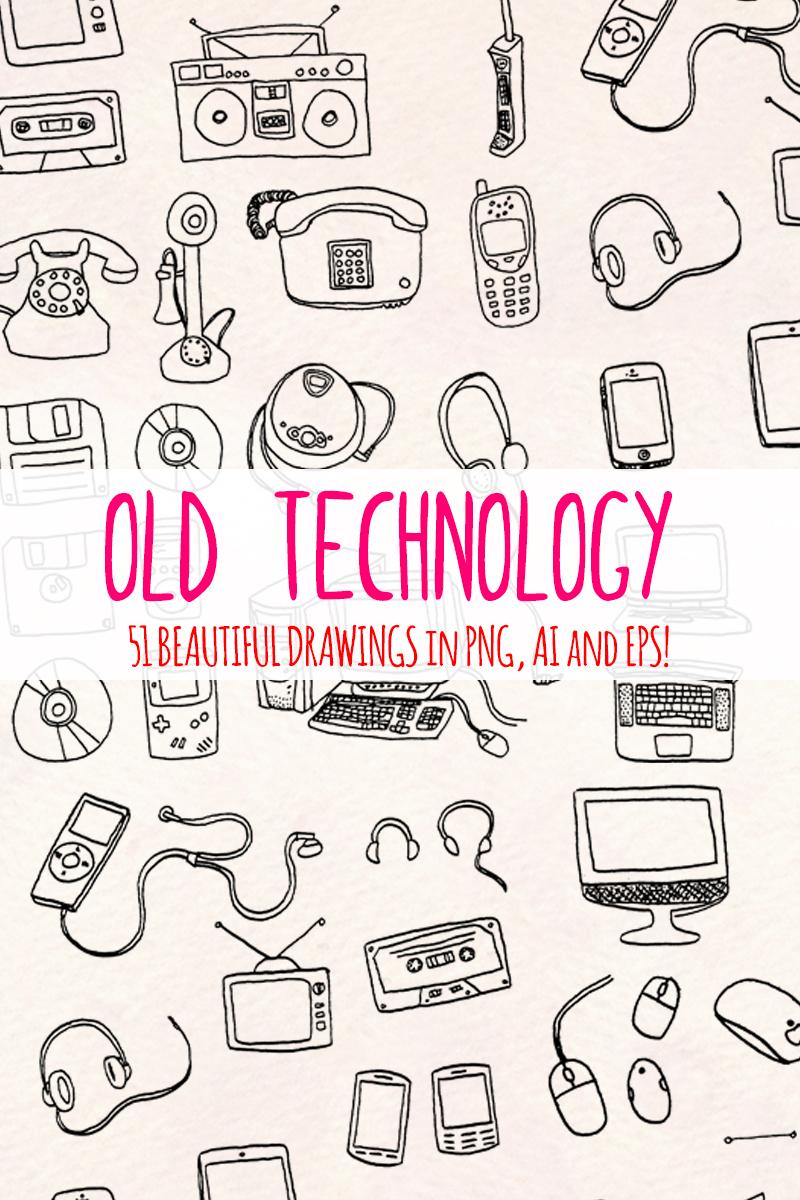 """Ilustración """"51 Retro Computer and Technology"""" #79685"""