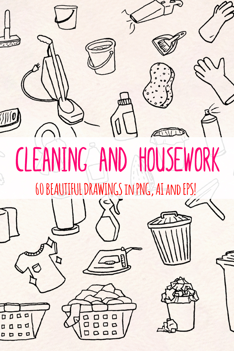 "Ilustración ""60 Cleaning and Housework"" #79615"