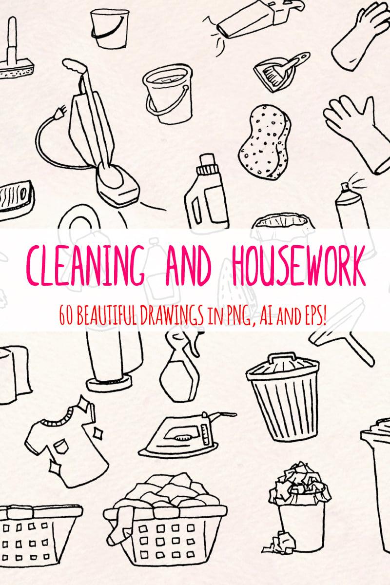 "Ilustración ""60 Cleaning and Housework"" #79615 - captura de pantalla"