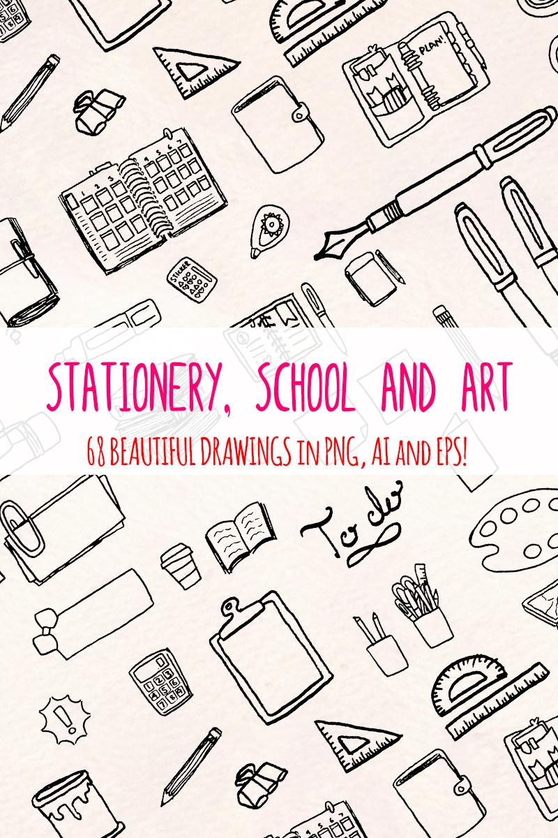 "Ilustración ""68 Stationery, School and Art Supply"" #79692"