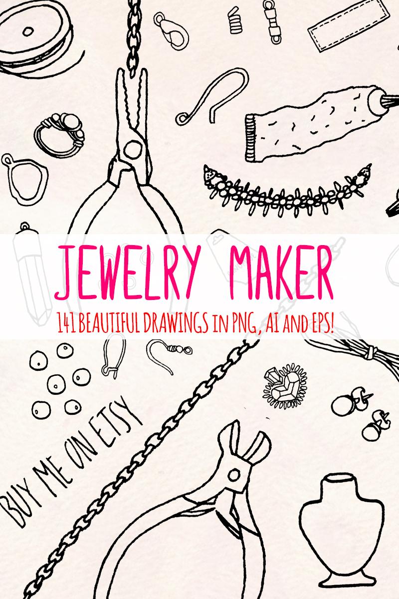 """141 Jewellery Making Craft Shop"" illustration  #79622"