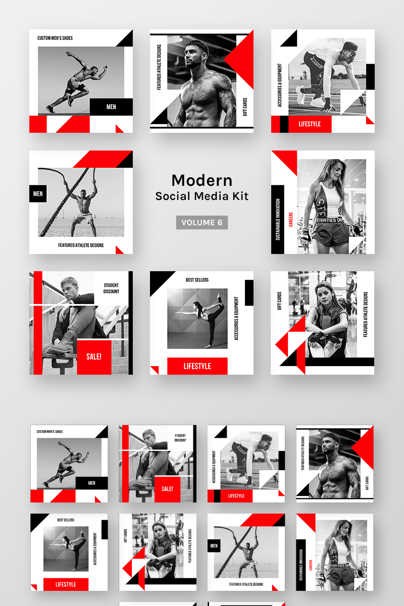 """""""Modern Social Media Kit (Vol. 6)"""" Social Media №79654"""