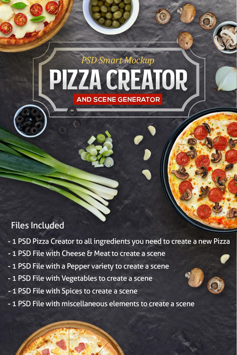 Produktowy mockup Pizza Creator & Scene #79639