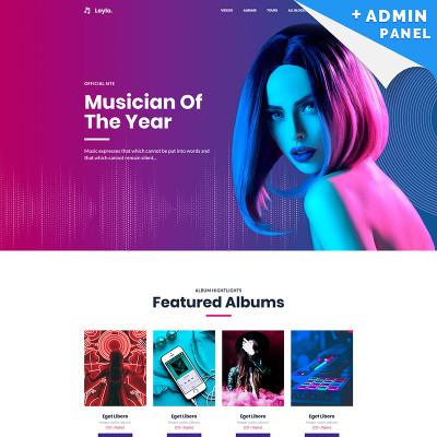 Singer Responsive Nyítóoldal Sablon