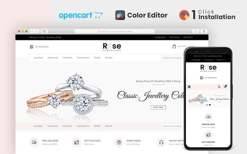 Rose Responsive OpenCart Template