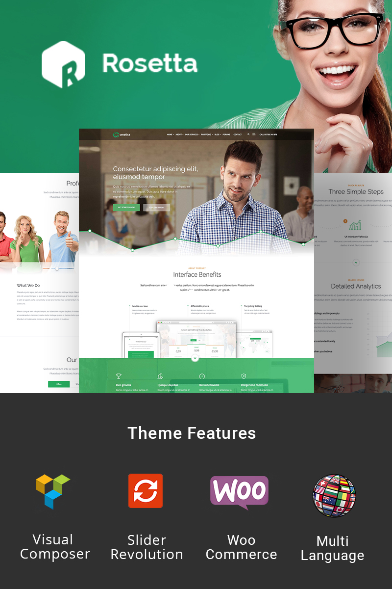 Rosetta - Creative WordPress Theme