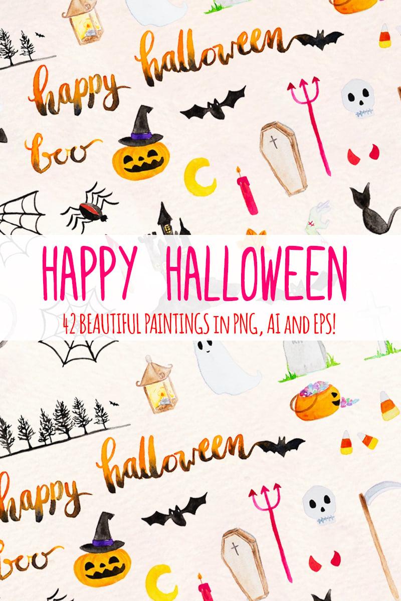 """42 Spooky Halloween Elements"" illustration  #79669 - screenshot"