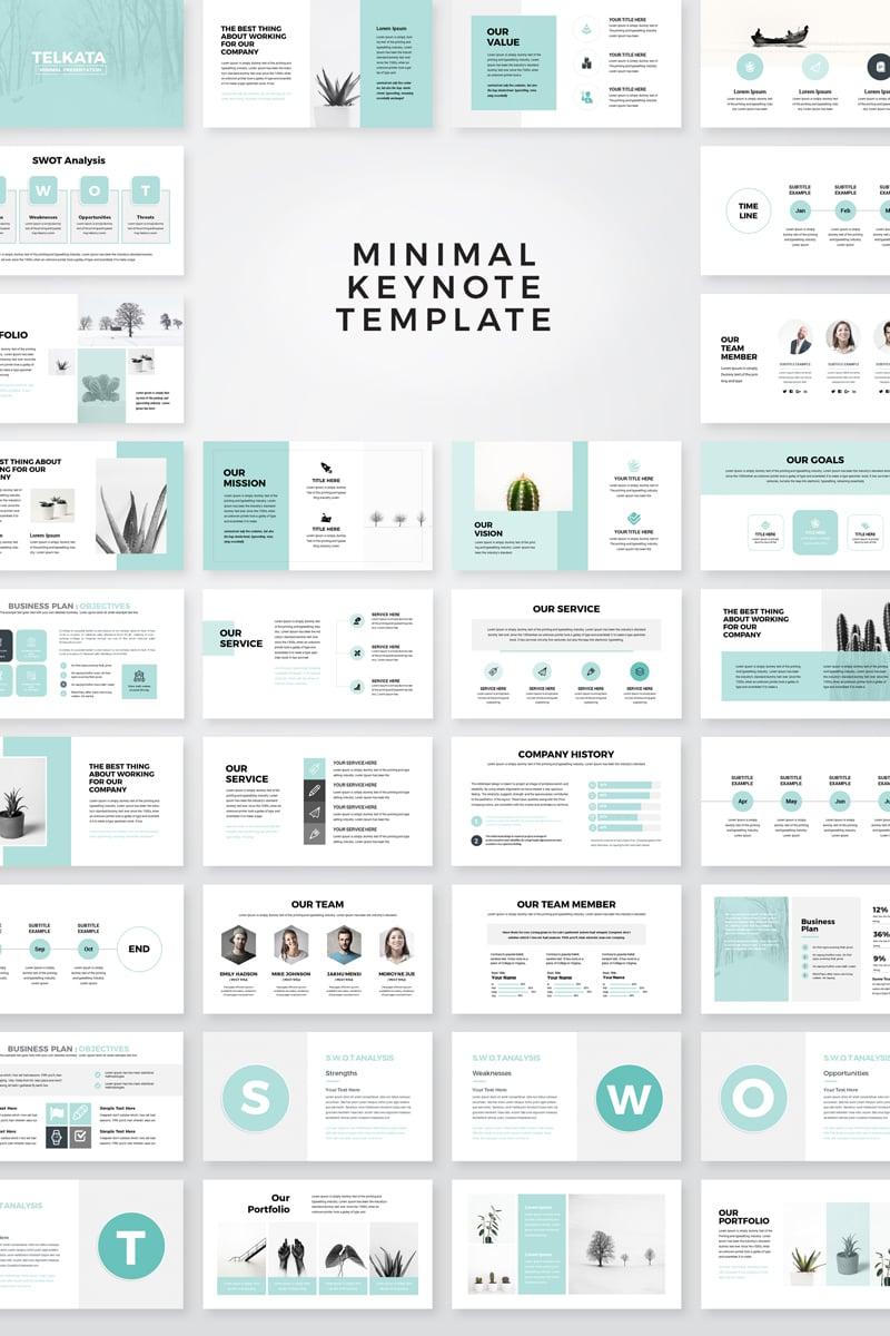 """Telkata Minimal Clean Presentation"" Keynote Template №79637"