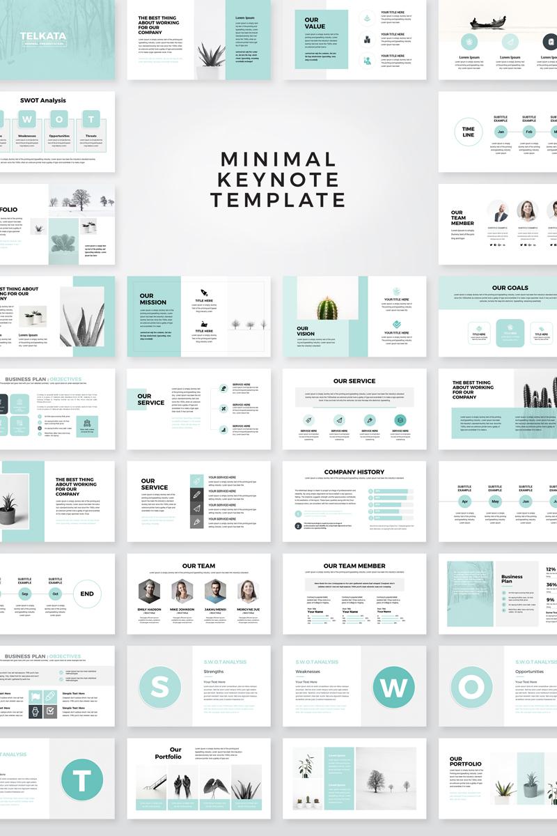"""Telkata Minimal Clean Presentation"" modèle Keynote  #79637"