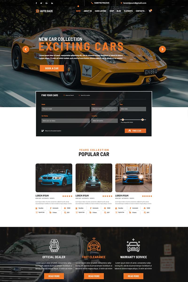 "Template PSD Bootstrap #79636 ""AutoGaze"""
