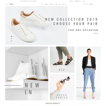 Купить  пофессиональные Shopify шаблоны. Купить шаблон #79757 и создать сайт.