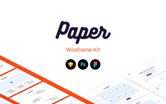 Paper Wireframe Kit UI Elements