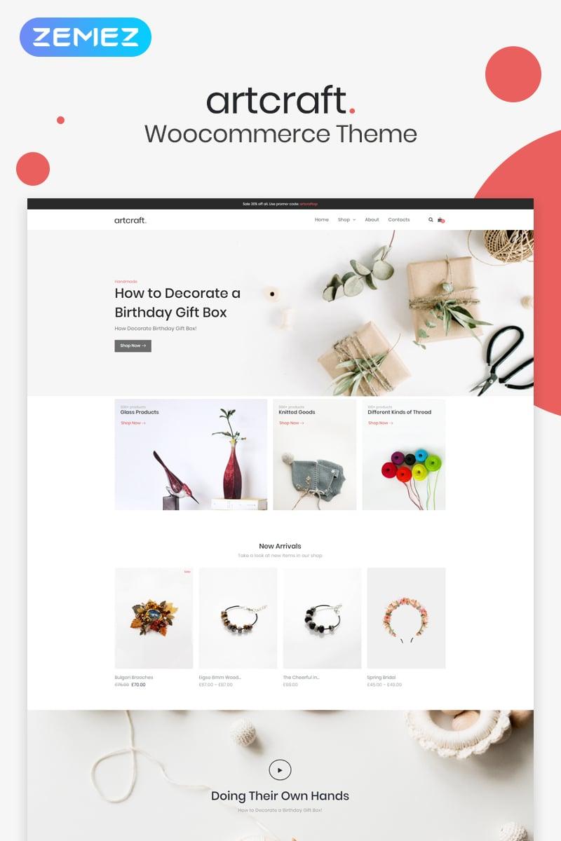 Artcraft - Handmade ECommerce Clean Elementor WooCommerce Theme - screenshot