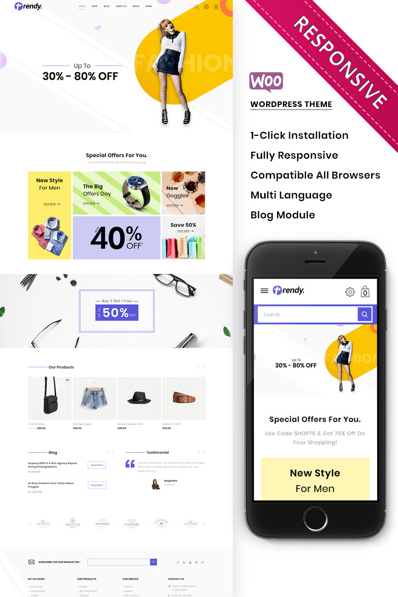Claires - The Fashion Store Responsive WooCommerce Theme - screenshot