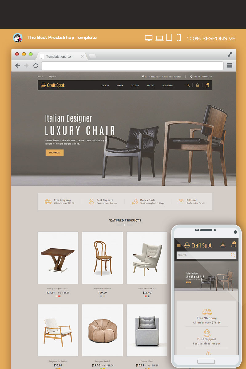 Craft Furniture Interior PrestaShop Theme