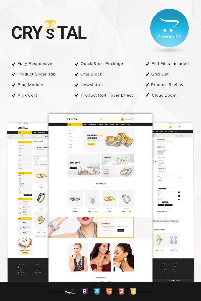 Crystal Jewelry Store OpenCart Template - screenshot