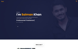 Duck - Personal Portfolio Landing Page Template