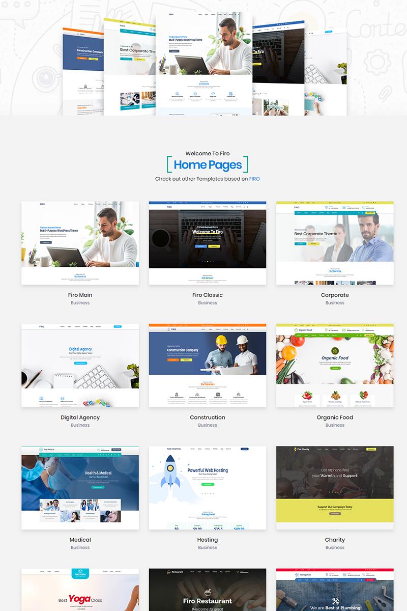 """Firo - Multipurpose"" Website template №79773"