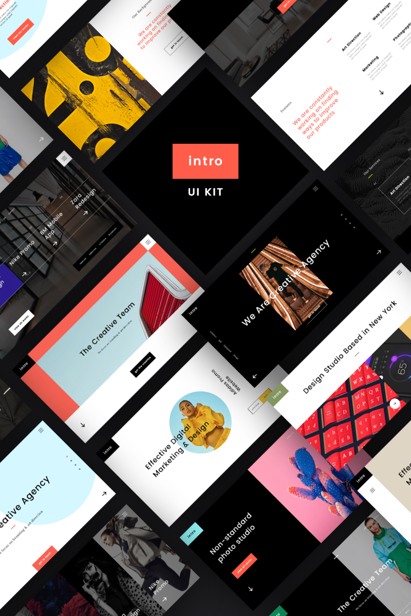 Intro UI Kit Elementos UI №79781