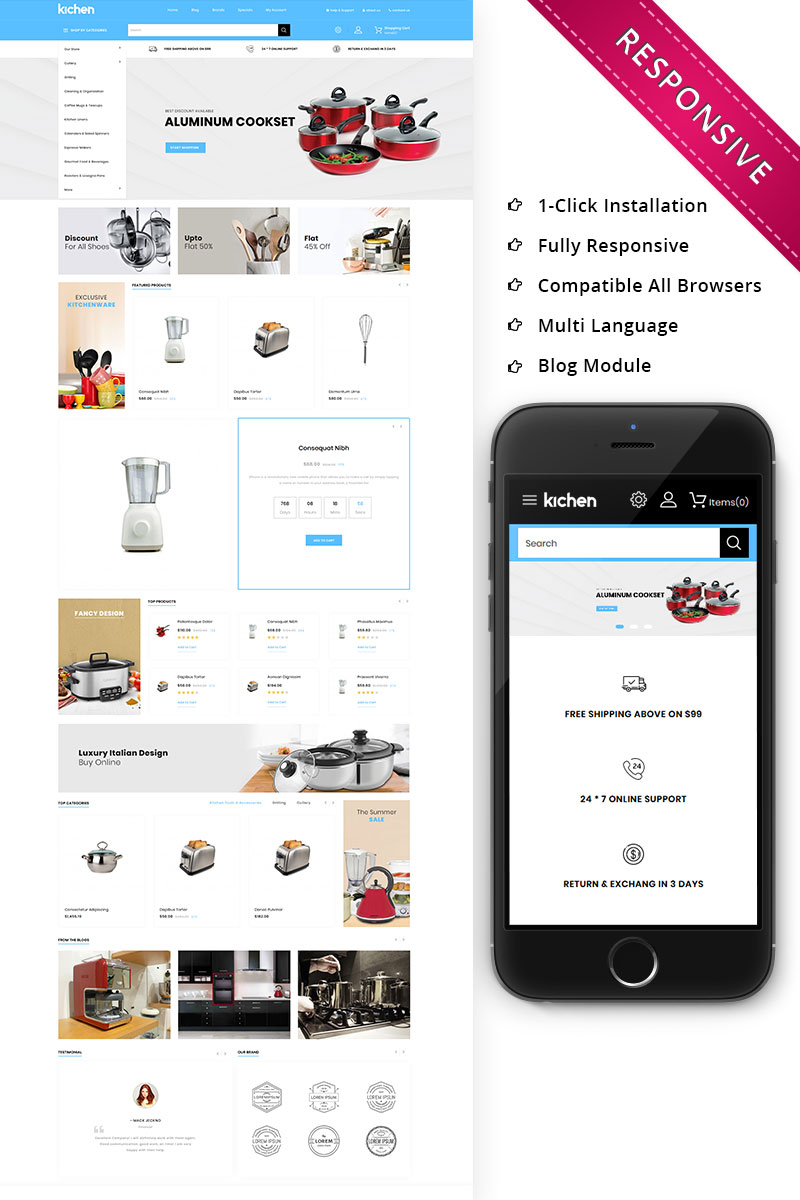 Kichen - Responsive Store OpenCart Template