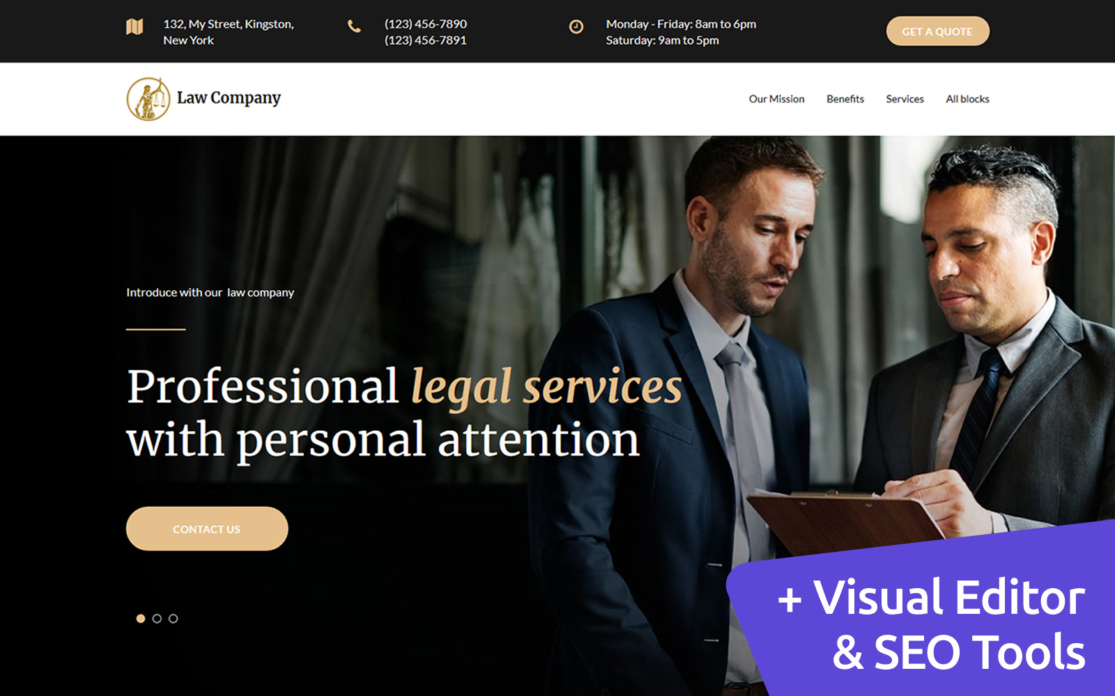 """Landing Page Template namens """"Law Company"""" #79765"""