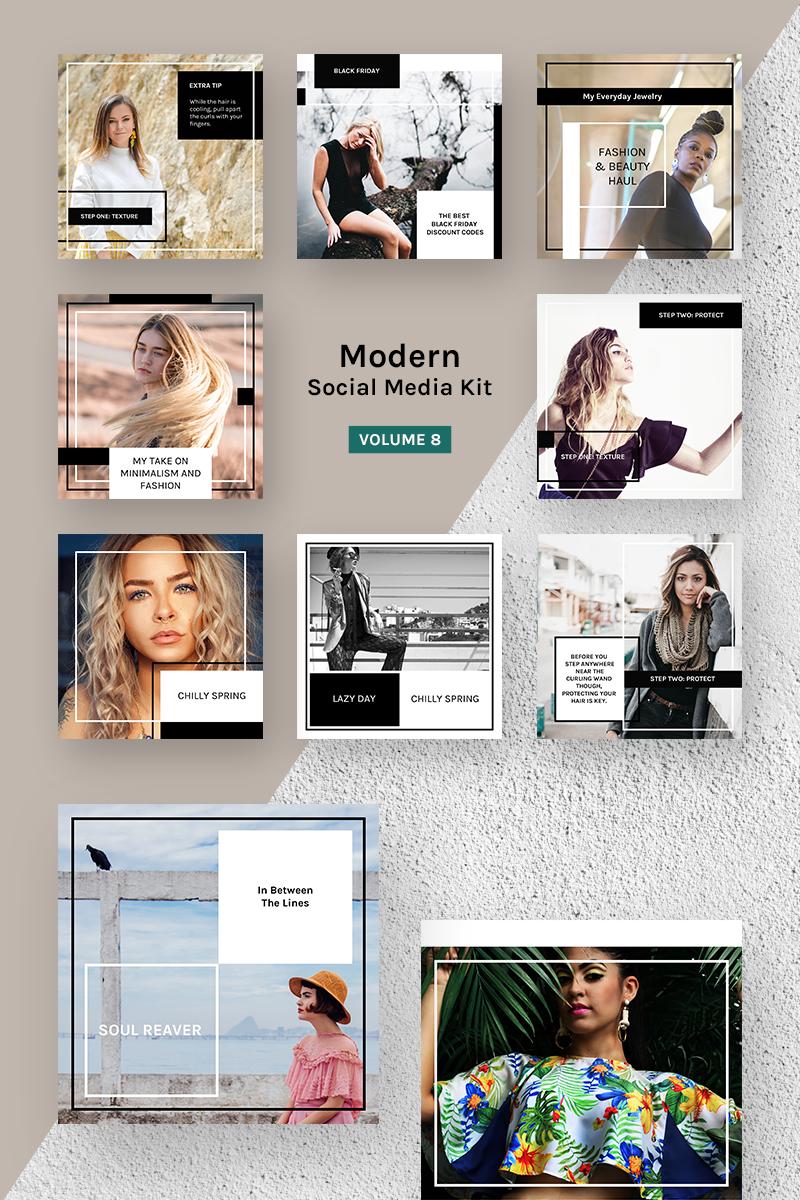 "Medios Sociales ""Modern Social Media Kit (Vol. 8)"" #79742 - captura de pantalla"