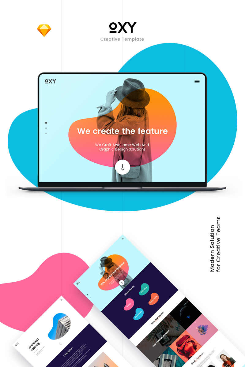 """Oxy Creative"" Sketch Template №79790"