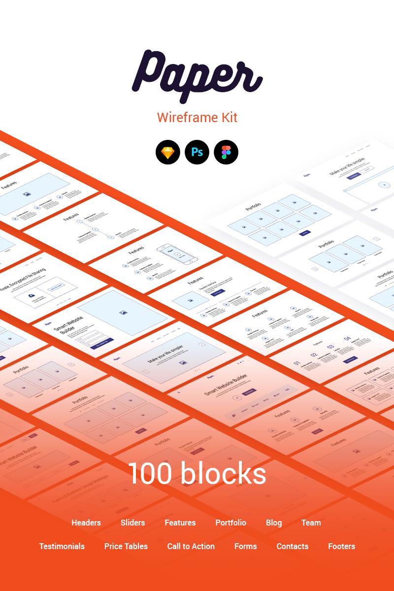 """""""Paper Wireframe Kit"""" UI Elementen №79784"""