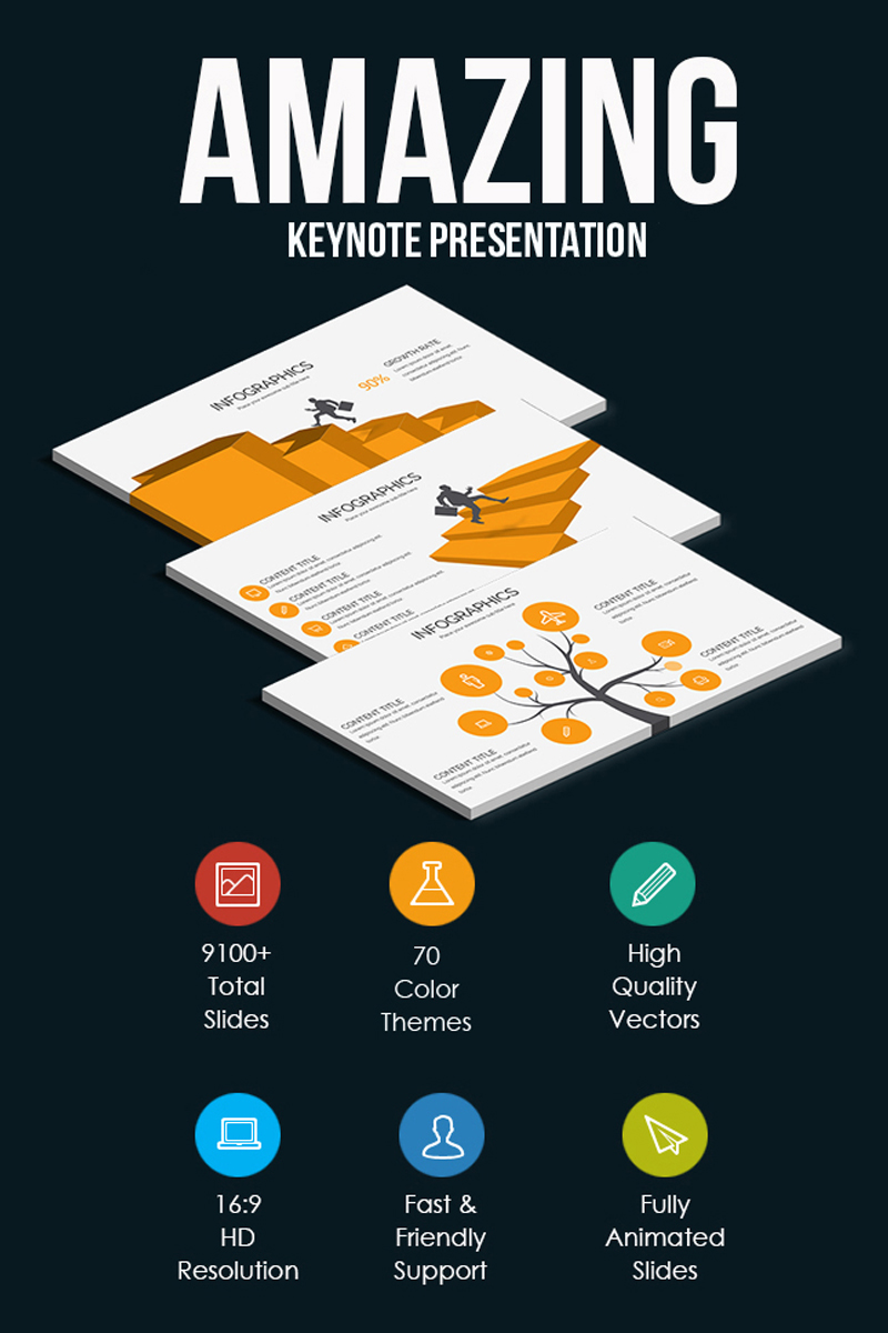 "Plantilla Keynote ""Amazing Keynote Presentation"" #79752 - captura de pantalla"