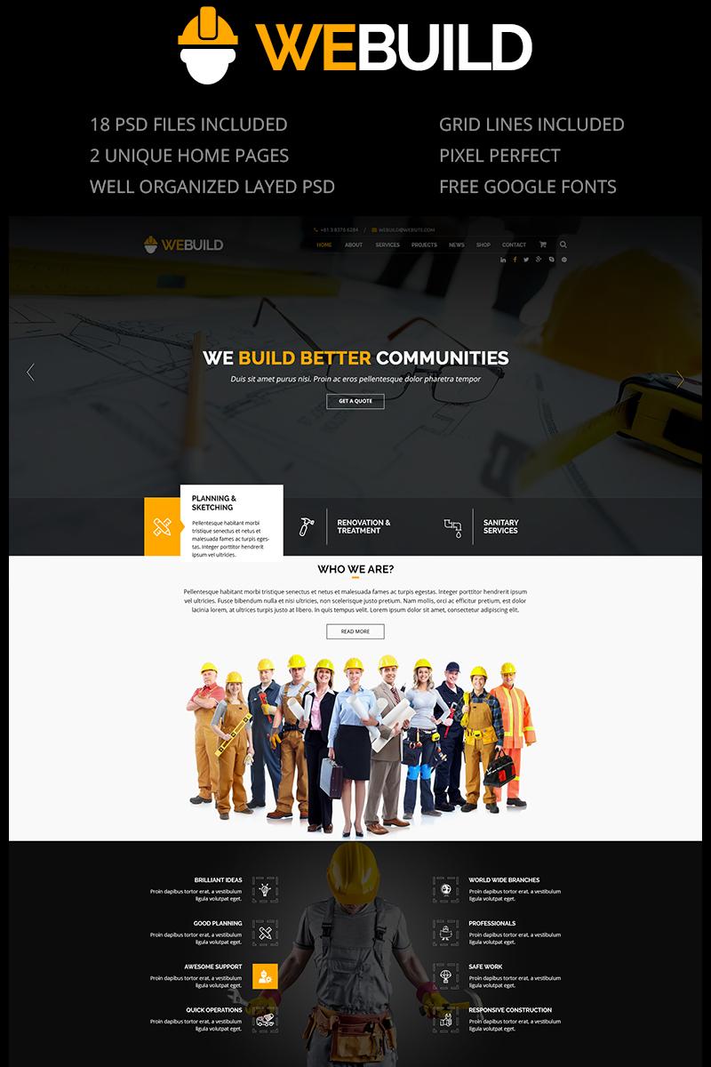 "PSD Vorlage namens ""WEBUILD - Construction & Building"" #79713"