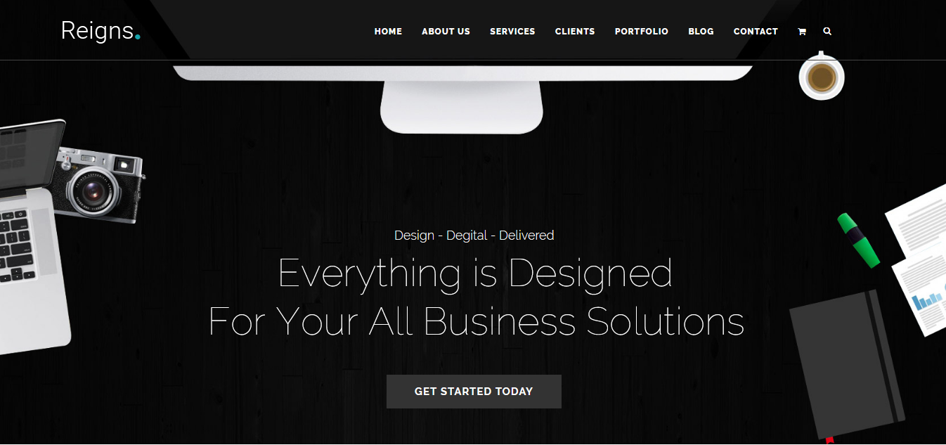 Reigns - Professional One Page Joomla Template - screenshot