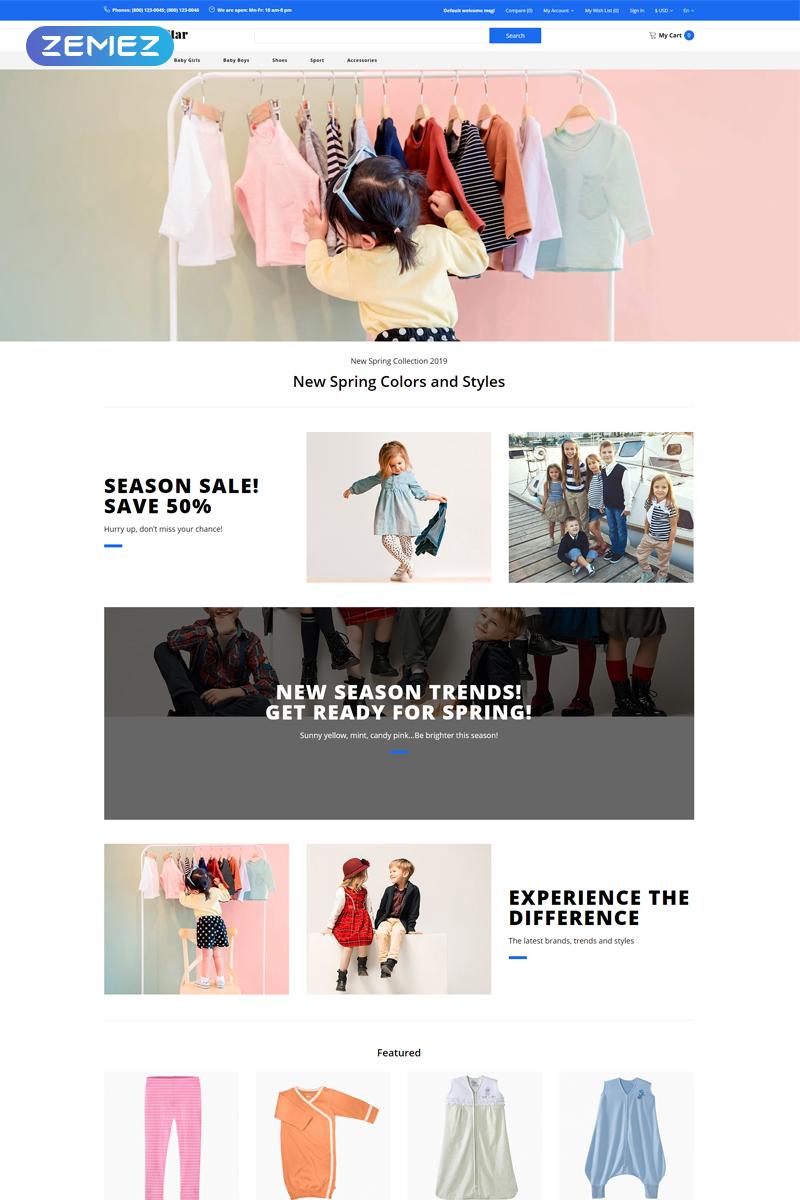 Super Star - Kids Fashion Store Clean OpenCart Template - screenshot