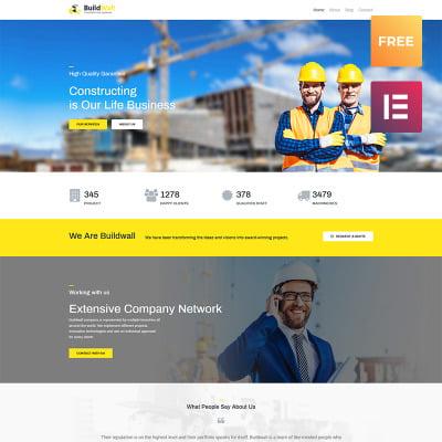 Responsive Tema De WordPress #79737 para Sitio de  para Sitio de Empresas de construcción