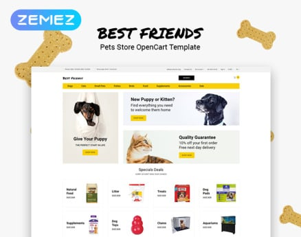 Best Friends - Pets Store Clean OpenCart Template
