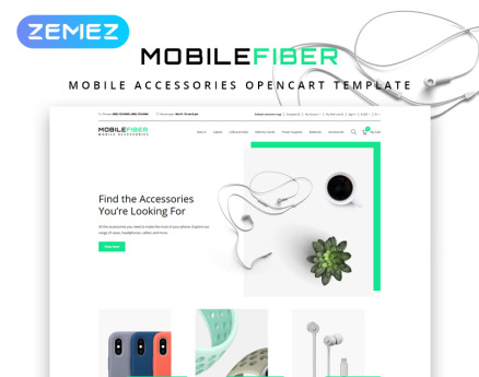 MobileFiber - Mobile Accessories Store Clean OpenCart Template