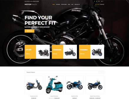 MOTORTRACK - Motorcycle Multipage Modern Shopify Theme