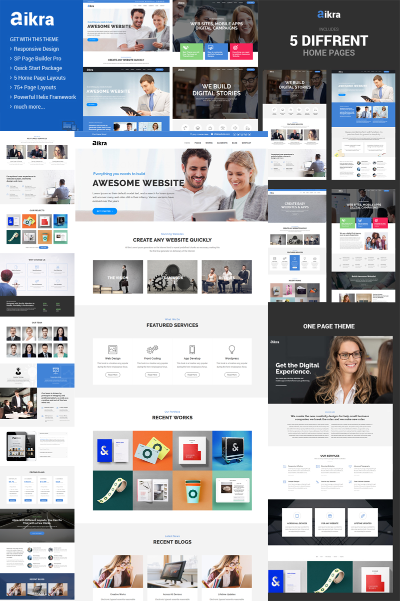 Aikra - Responsive MultiPurpose Joomla Template - screenshot
