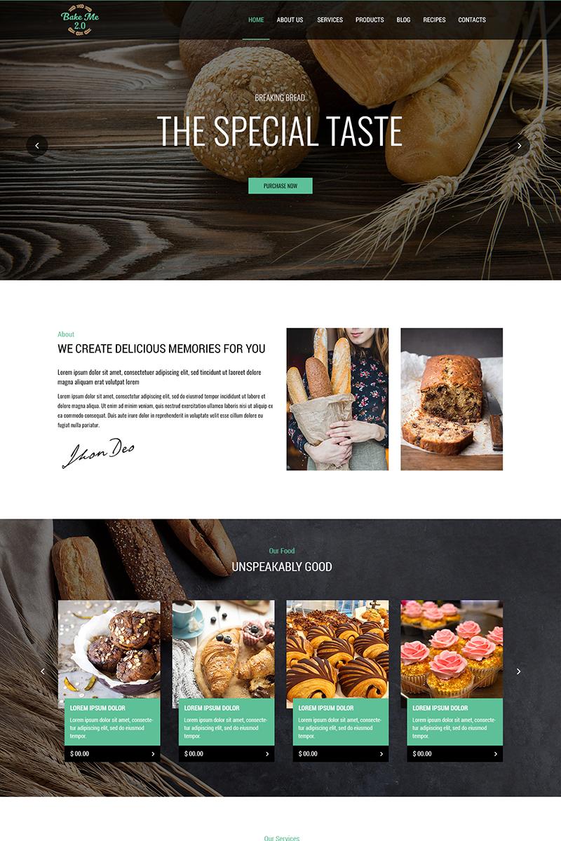 Bake Me 2.0 - Bakery PSD Template
