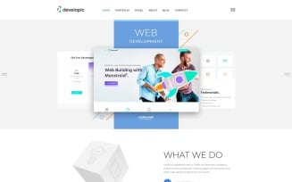 developic - Web Development Studio Clean Joomla Template