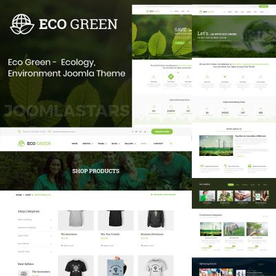 Eco Green - Environment, Ecology and Renewable Energy Joomla Template #79811