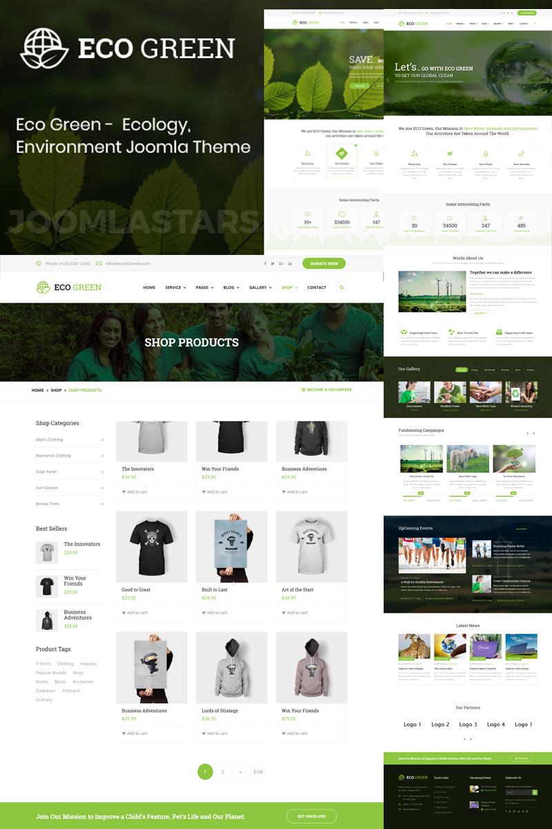 Eco Green - For Environment, Ecology and Renewable Energy Joomla Template - screenshot
