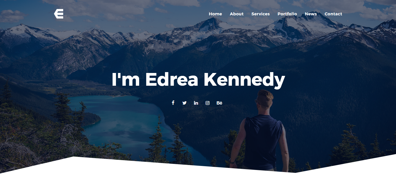 """Edrea - Personal Portfolio"" - адаптивний Joomla шаблон №79875 - скріншот"