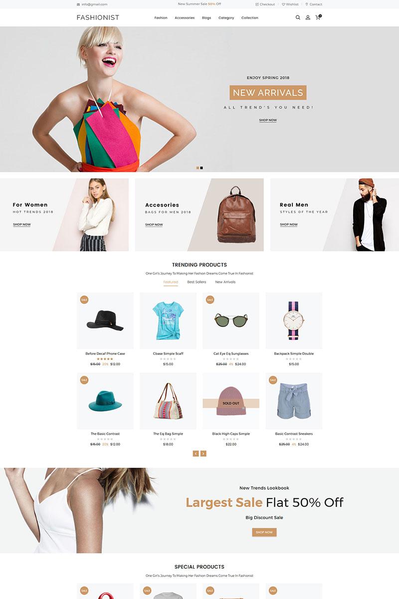"""Fashionist Multipurpose"" - адаптивний Shopify шаблон №79872 - скріншот"