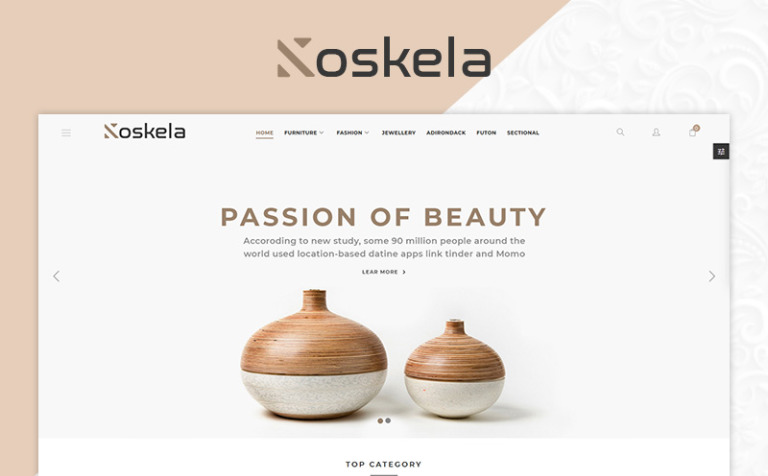 Koskela Furniture Responsive Bootstrap PrestaShop Theme #79867